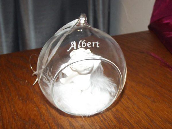 Boule ange personnalisée