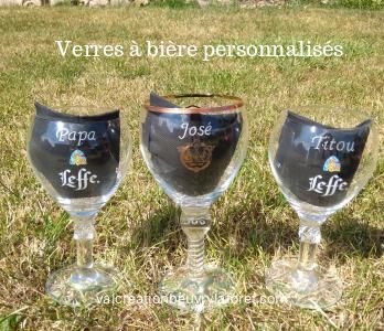 Verres à bière personnalisés